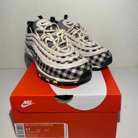Nike Shoes | Nike Air Max 97 Premium Plaid Light Cream 28 | Poshmark